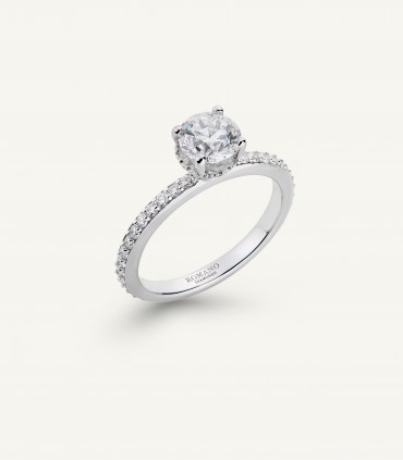 ROMANTIC CASTEL SOLITAIRE RING full pavé 1.25 ct