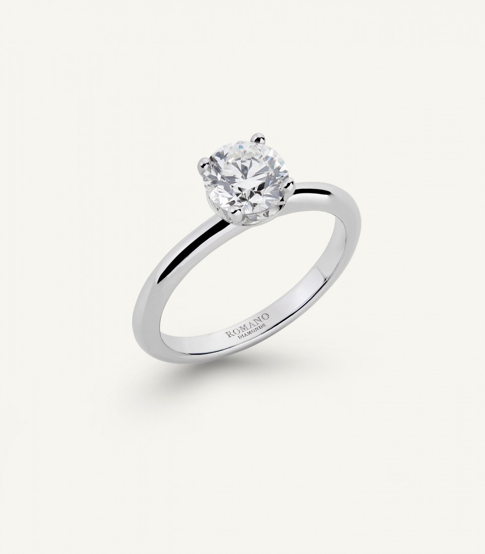 ANELLO SOLITARIO ROMANTIC CASTEL 1.00 ct