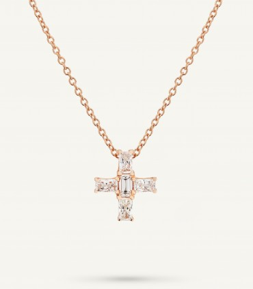 ZIP CROSS NECKLACE 0.62 ct