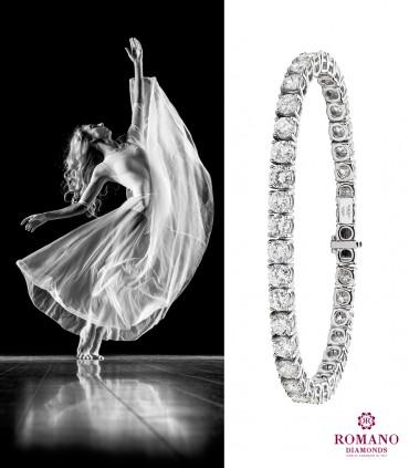 Il bracciale tennis, il gioiello di diamanti simbolo di Amore puro e infinito